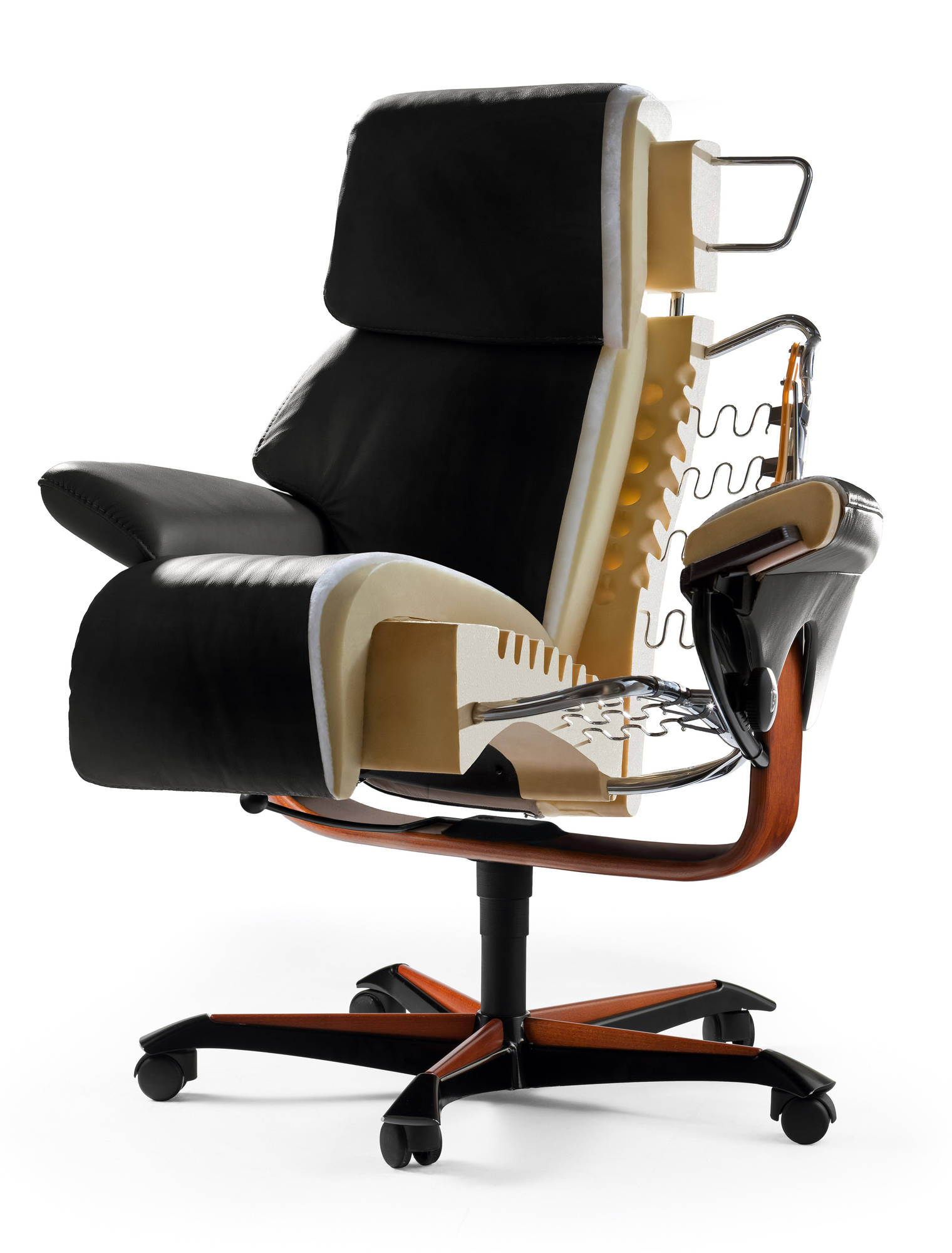 Ekornes Stressless Magic Office Chair | Luxury On Wheels Within Kawai Leather Swivel Chairs (Image 10 of 25)