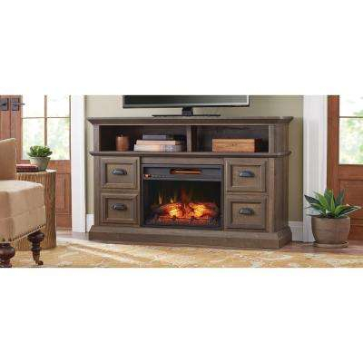 Electric Fireplaces – Fireplaces – The Home Depot With Widely Used Dixon Black 65 Inch Highboy Tv Stands (View 13 of 25)