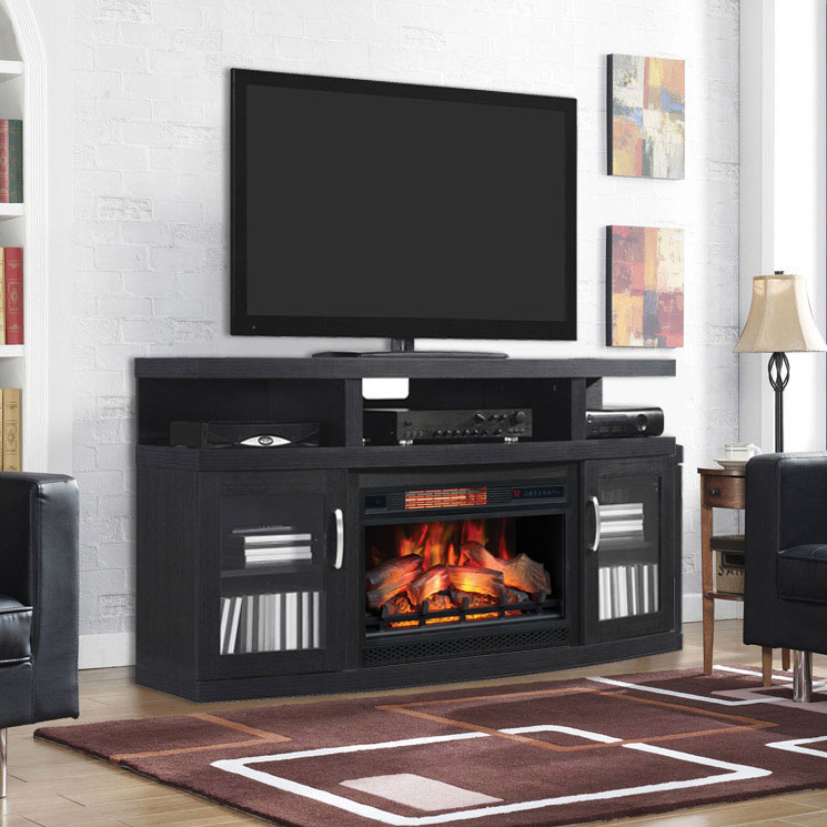 Electricfireplacesdirect For Latest Raven Grey Tv Stands (Image 11 of 25)