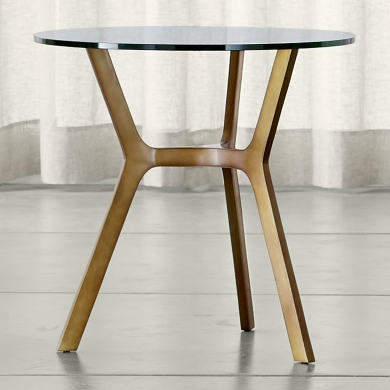 Elke Glass End Table With Brass Base (Image 6 of 25)