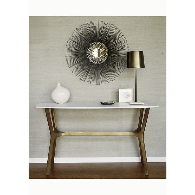 Elke Marble Console Table With Brass Base Inside Well Liked Elke Marble Console Tables With Brass Base (Image 12 of 25)