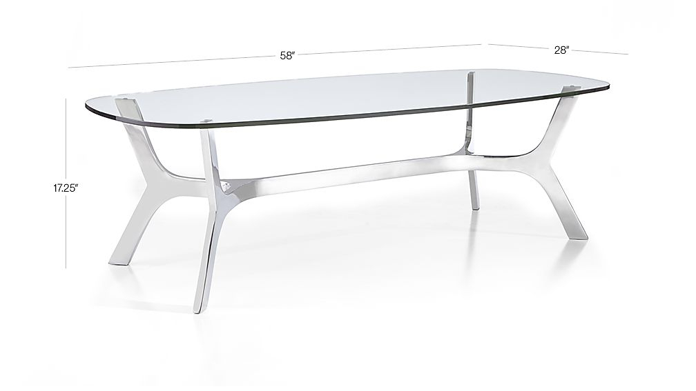 Elke Rectangular Glass Coffee Table With Polished Aluminum Base Inside Recent Elke Marble Console Tables With Polished Aluminum Base (View 11 of 25)