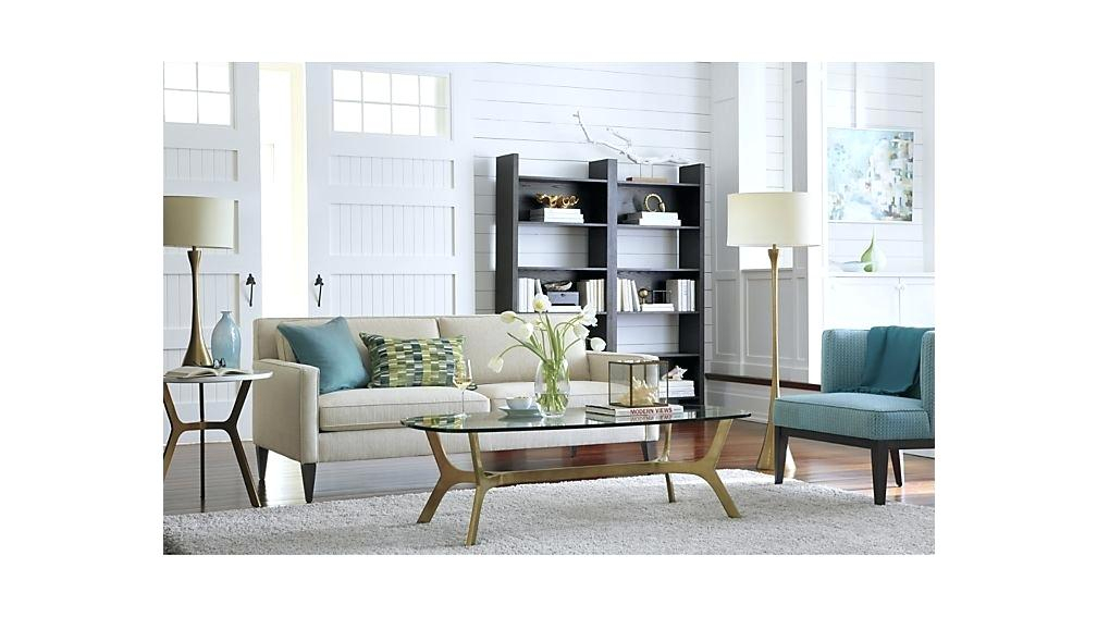 Elke Round Marble Side Table Coffee End With Brass Base Crate And With Well Known Elke Glass Console Tables With Polished Aluminum Base (Photo 9 of 25)