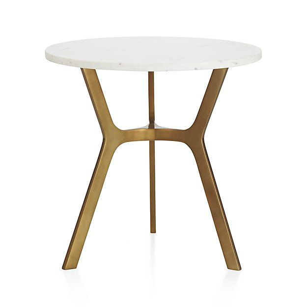 Elke Round Marble Side Table – Crate And Barrel (Image 13 of 25)