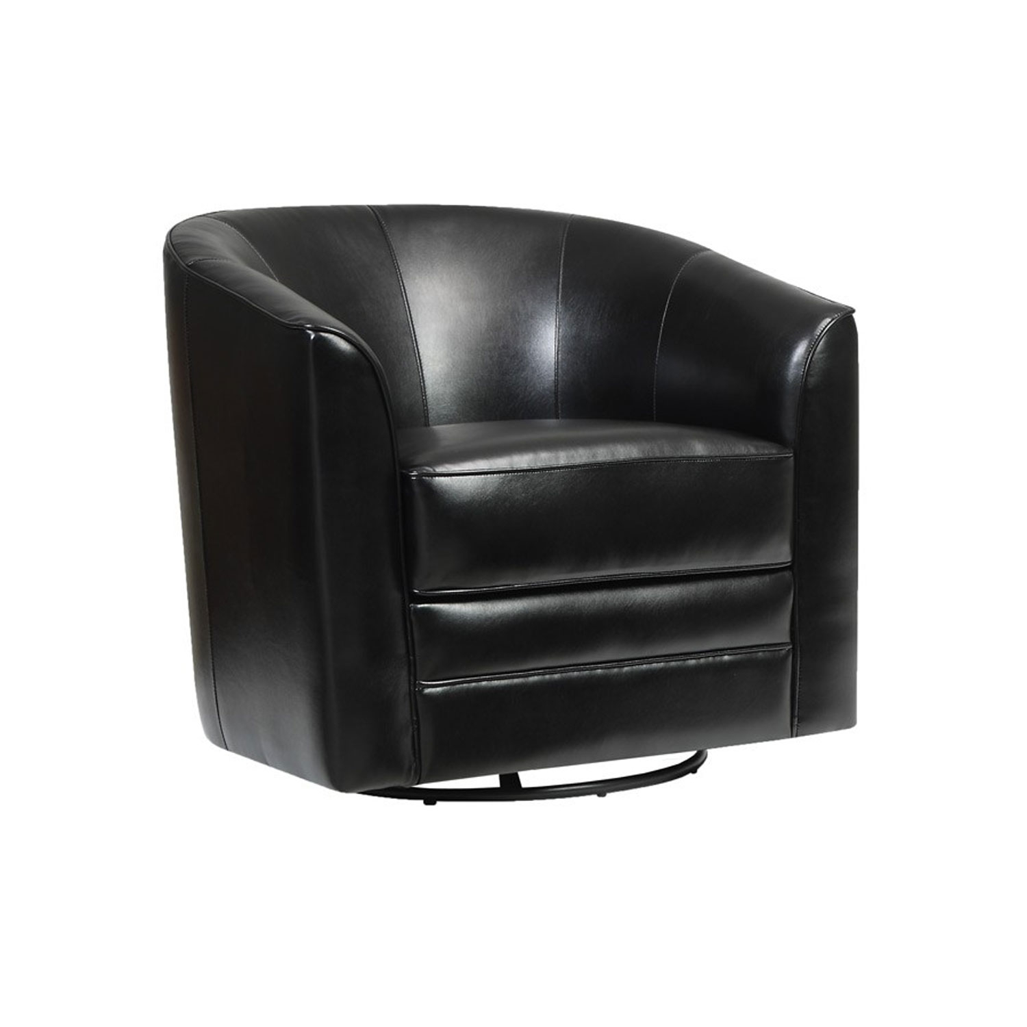 Emerald Home Furnishings Milo Swivel Chair Black U5029C 04 16 | Bellacor With Swivel Tobacco Leather Chairs (Photo 19 of 25)