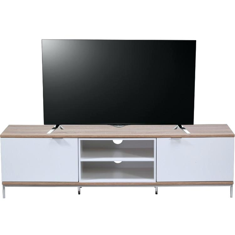 Enclosed Tv Cabinet Enclosed Cabinet In Light Oak And White Image 5 With Regard To 2017 Enclosed Tv Cabinets With Doors (View 23 of 25)
