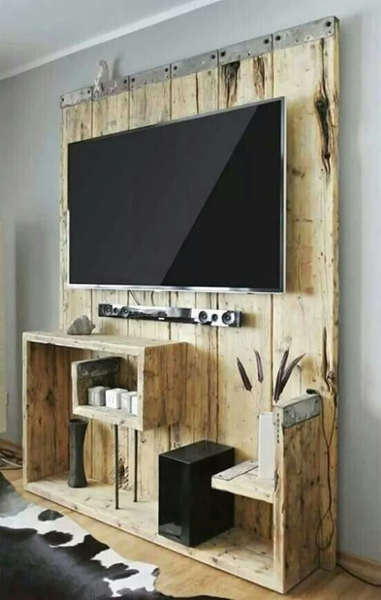 Entertainment Center, Wooden (Photo 4 of 11)