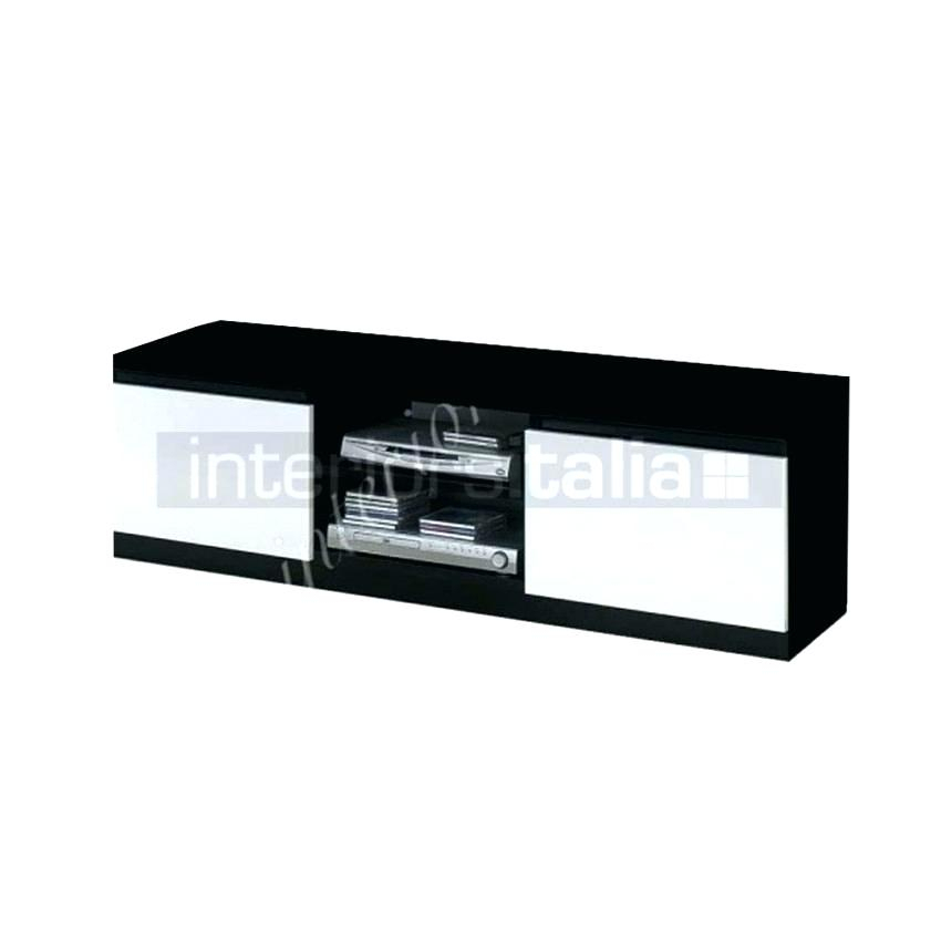 Entertainment Unit In Black Gloss Fronts With Shelving High Stands Pertaining To Widely Used Oval White Tv Stand (Image 2 of 25)