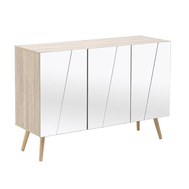 Entrance Furniture – Drawers – Consoles – Furniture – Inart With Regard To Well Known Natural Wood Mirrored Media Console Tables (Photo 3 of 25)