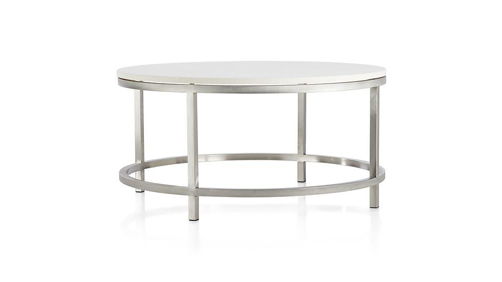 Era Limestone Round Coffee Table + Reviews (Photo 3 of 25)