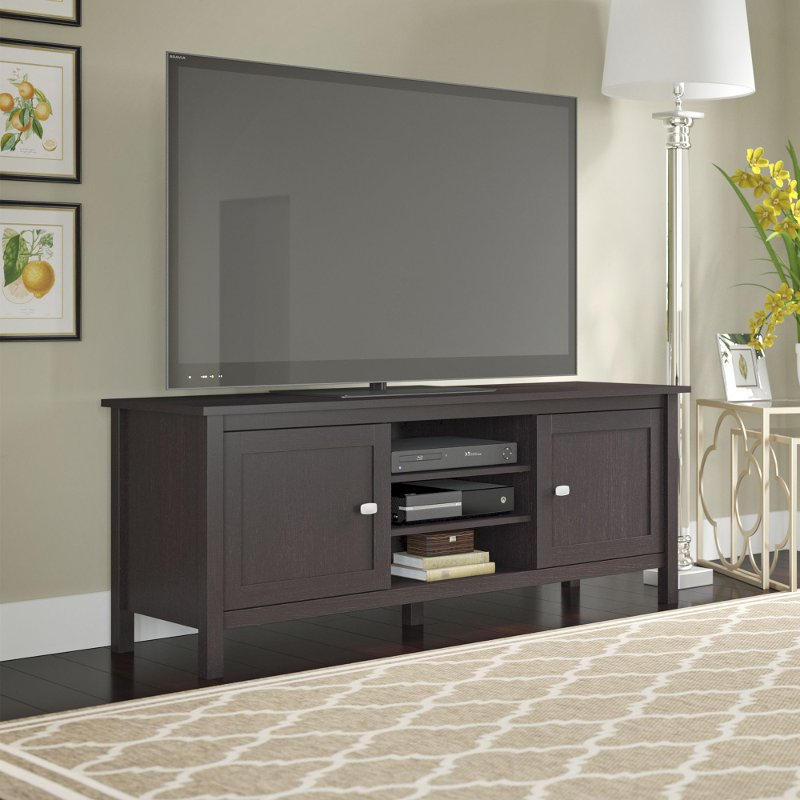 Espresso Brown Oak Modern 65 Inch Tv Stand – Broadview (View 10 of 25)