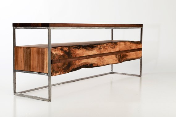 Etsy intended for Widely used Rustic Tv Stands