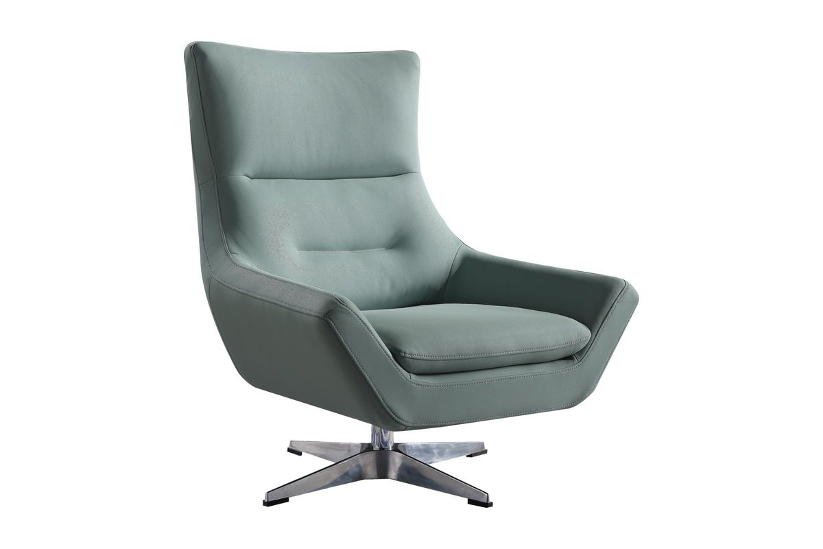 Eudora Accent Chair In Grey Stoneacme At Gardner-White for Amari Swivel Accent Chairs