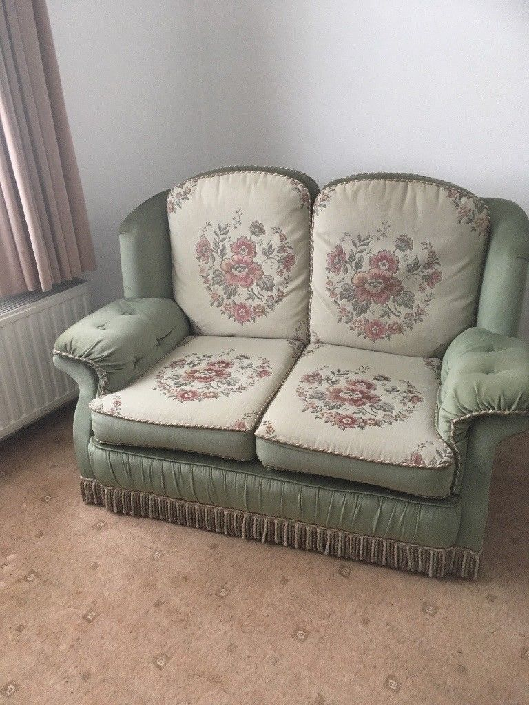 """Excellent Condition. """"abigail"""" Two Seater Sofa In Embassy Sage In Abigail Ii Sofa Chairs (Photo 11 of 25)"""