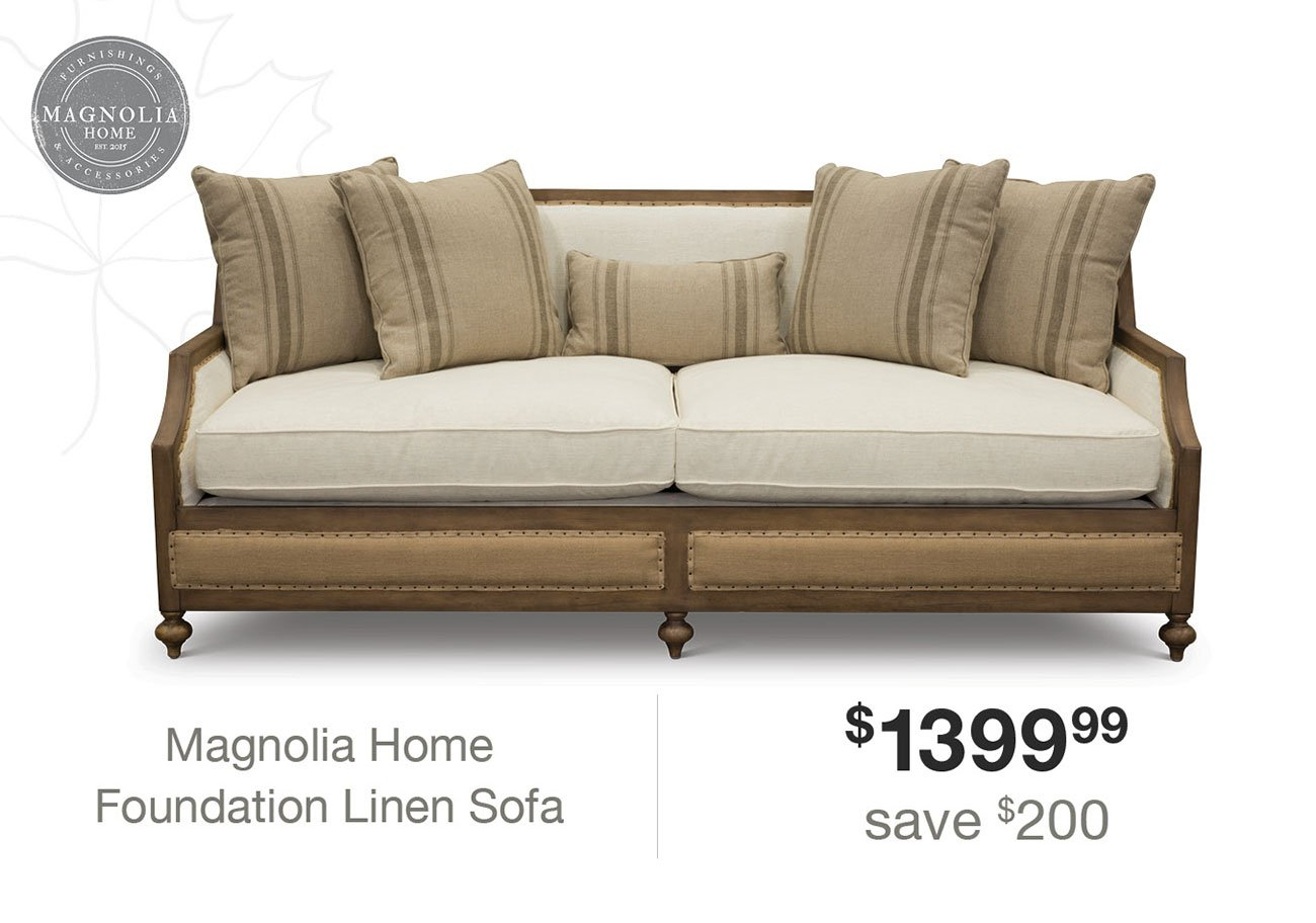 Expired Email: Hi Angela, Click Here To Make Your Home A Magnolia With Regard To Magnolia Home Foundation Leather Sofa Chairs (Image 2 of 25)
