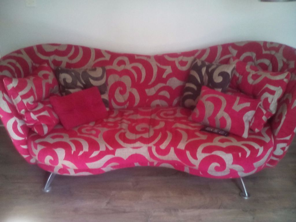 Fama Pink & Grey Josephine Sofa | In Castlereagh, Belfast | Gumtree Within Josephine Sofa Chairs (Image 4 of 25)