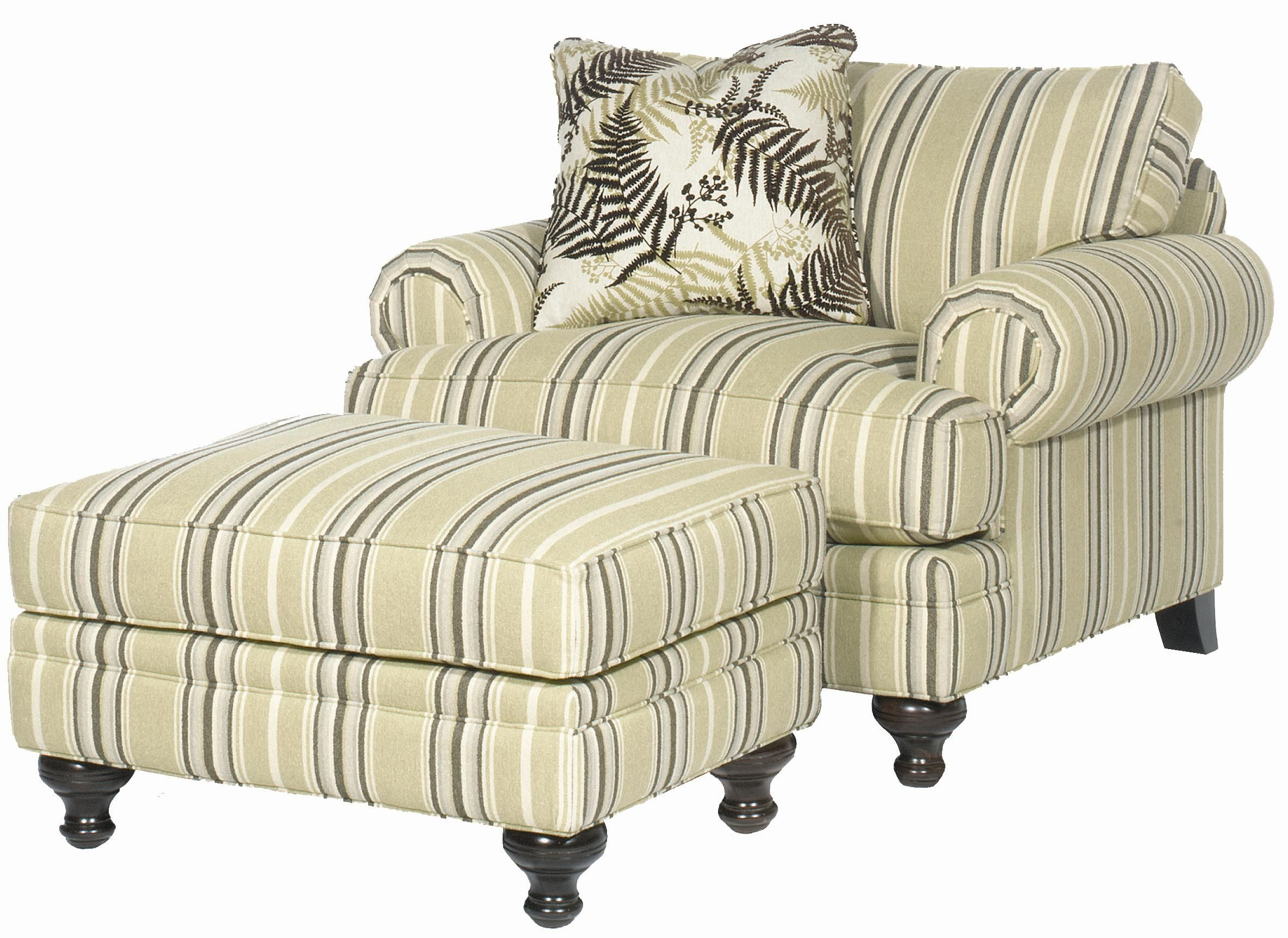 Family Room: Paula Deen Chair And A Half With Ottoman That Could For Bailey Linen Flare Arm Wing Skirted Swivel Gliders (Image 10 of 25)