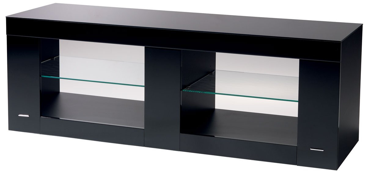 Famous Black Gloss Tv Stands Within B Tech Btf803 High Gloss Black Tv Stand (View 10 of 25)