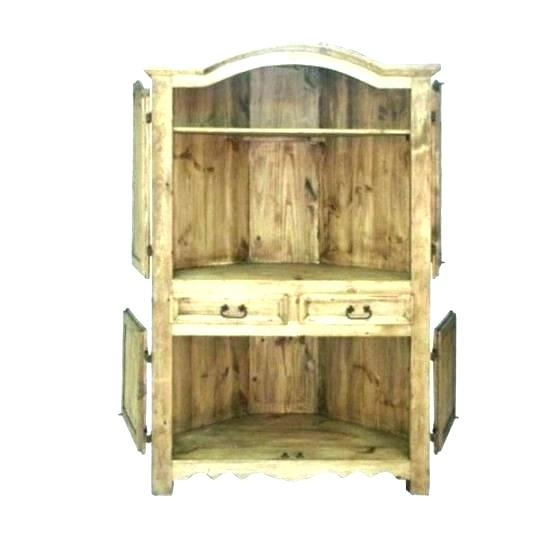 Famous Corner Tv Cabinet With Hutch In Unfinished Pine Tv Stands Corner Stand With Drawers Unfinished (Image 13 of 25)
