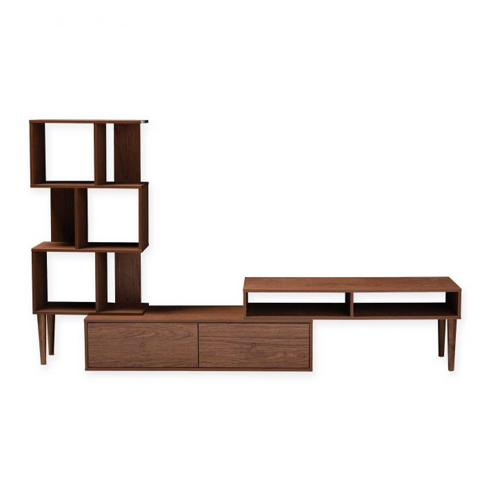 Famous Dixon White 65 Inch Tv Stands Pertaining To Ikea Tv Stand Baxton Studio White Cabinet Mid Century Medium Brown (Image 4 of 25)