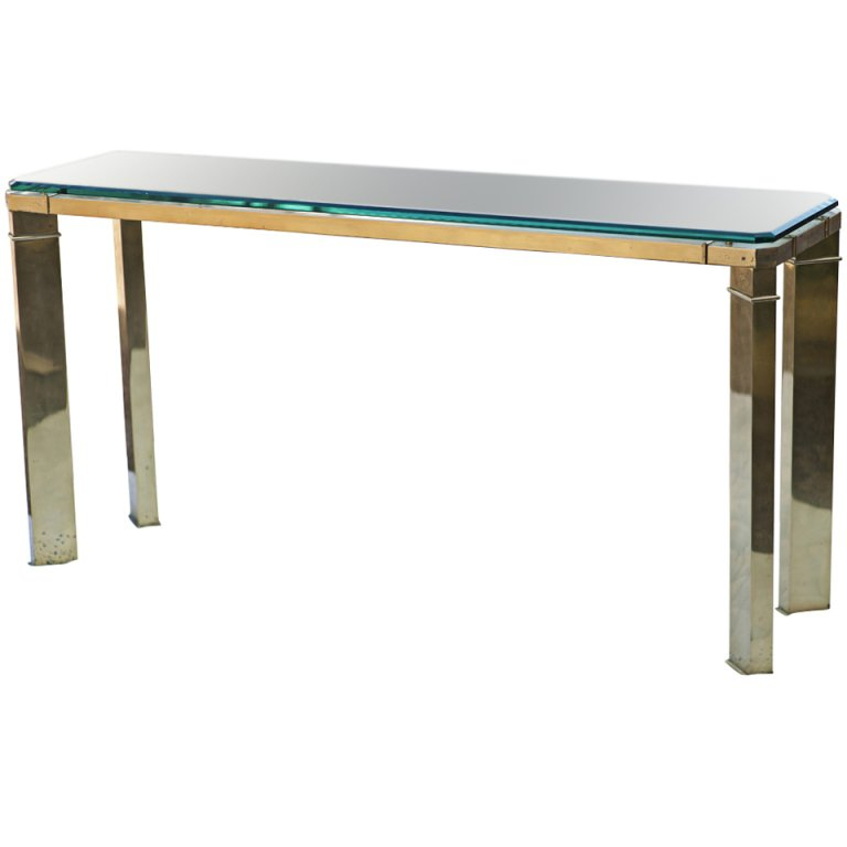 Famous Elke Glass Console Tables With Brass Base Pertaining To Innovative Glass Sofa Table And Allure Modern Glass Top Arch Legged (Image 9 of 25)