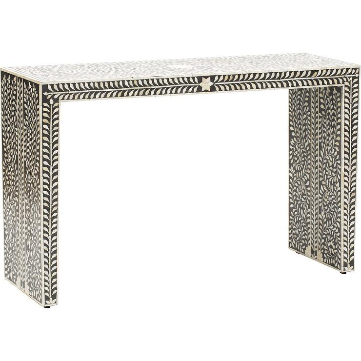 Famous Intarsia Console Tables In Navarro Black And Ivory Console Bernhardt (Image 15 of 25)