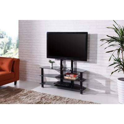 Famous Maddy 70 Inch Tv Stands With Regard To Glass – Tv Stands – Living Room Furniture – The Home Depot (Image 3 of 25)