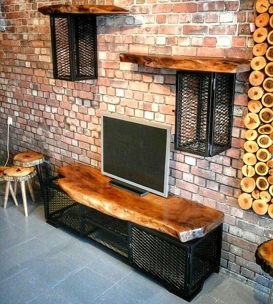 Famous Natural 2 Door Plasma Console Tables With Regard To Natural Wood Tv Unit ✓ Doğal Ahşap Tv Ünitesi 0538 398 57  (Image 4 of 25)