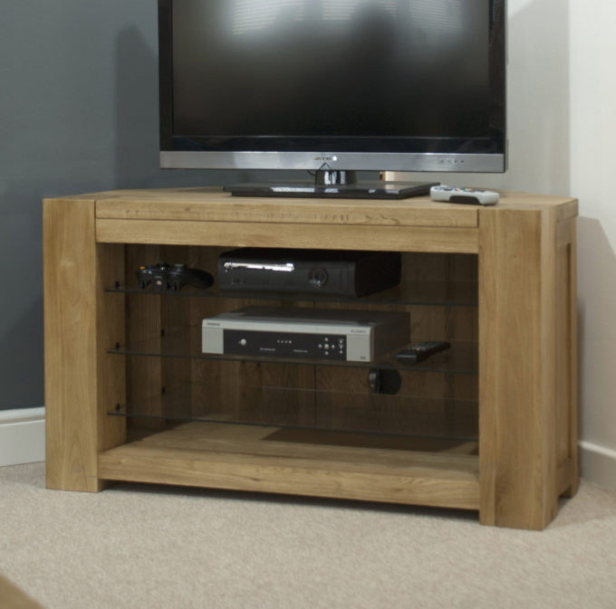 Famous Oak Furniture Tv Stands With Living Room: Extraordinary Corner Tv Stand Sale For Your Home (Image 9 of 25)