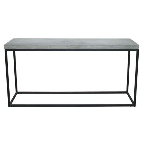 Famous Parsons White Marble Top & Dark Steel Base 48X16 Console Tables In Mayson 150X30Cm Console (Image 6 of 25)