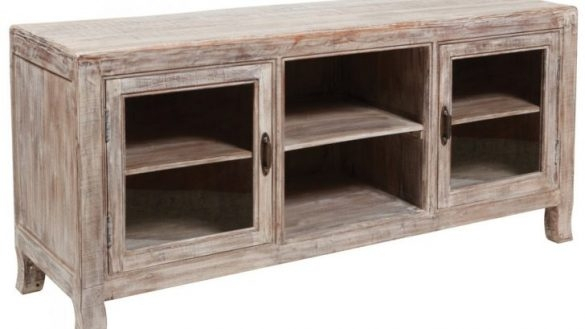 Famous Tv Cabinets With Glass Doors Pertaining To Impressive Impressive Furniture Grey Wooden Tv Cabinet With Swing (Image 7 of 25)