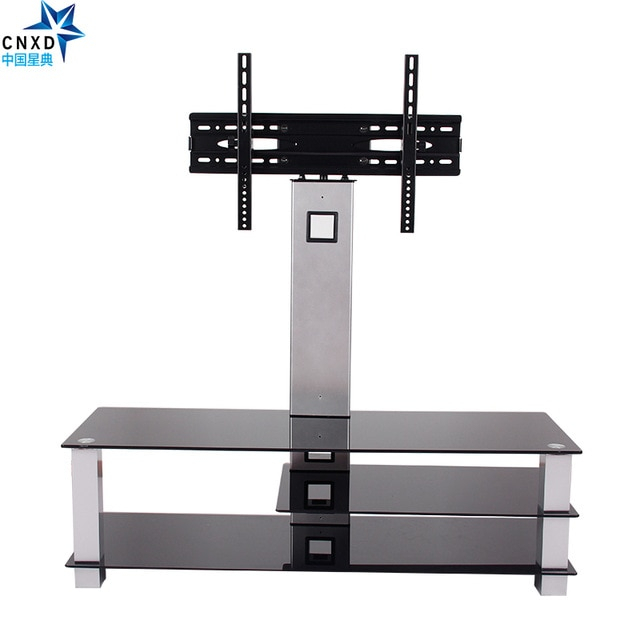 Famous Universal Flat Screen Tv Stands In Universal Tilting Adjustable Lcd Led Flat Screen Tv Table Top Desk (Image 4 of 25)