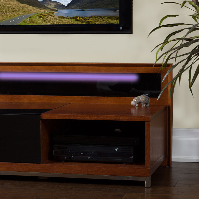 Famous Valencia 60 Inch Tv Stands For Plateau Valencia Series Backlit Modern Wood Tv Stand For 51 80 Inch (Image 8 of 25)