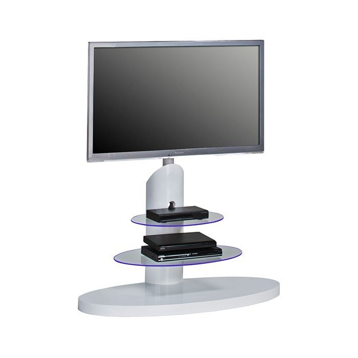 Famous White Cantilever Tv Stand With Regard To Maja 1636 9956 High Gloss White Cantilever Tv Stand For Screens Up (Photo 1 of 25)