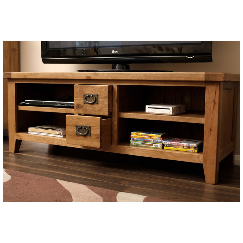 [%Famous Wide Tv Cabinets Throughout 50% Off Rustic Oak Wide Tv Cabinet Unit | Vancouver Guarantee|50% Off Rustic Oak Wide Tv Cabinet Unit | Vancouver Guarantee With Regard To 2017 Wide Tv Cabinets%] (Image 1 of 25)