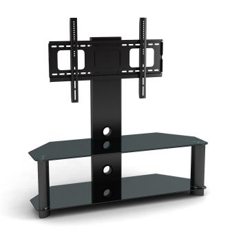 Fashionable Cantilever Glass Tv Stand For Cantilever Glass Tv Stand For Tvs From 33 To 63 Inches (Image 10 of 25)