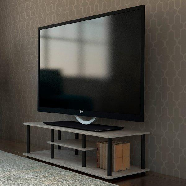 Fashionable Casey Grey 66 Inch Tv Stands For Shop Porch & Den Stuyvesant Open Shelves 3 Tier Entertainment Tv (Image 10 of 25)