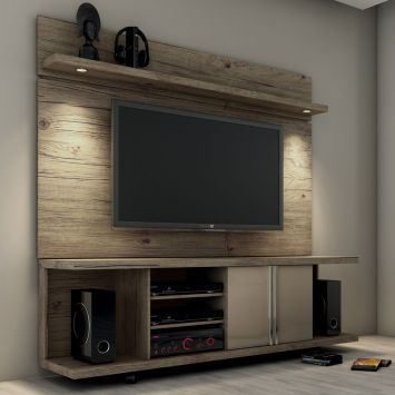 Fashionable Cato 60 Inch Tv Stands Pertaining To Rack Com Painel Para Tv 60 = R$ (View 2 of 25)