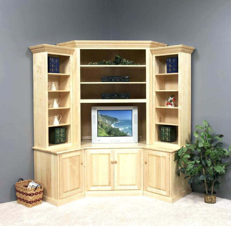 Fashionable Corner Tv Cabinet With Hutch inside Corner Tv Stands With Hutch Rustic Hutch Corner Cabinet Stand Hutch