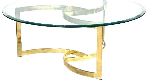 Fashionable Elke Glass Console Tables With Polished Aluminum Base Throughout Brass Coffee Table Base Brass Coffee Table Base Brass Coffee Table (Image 8 of 25)