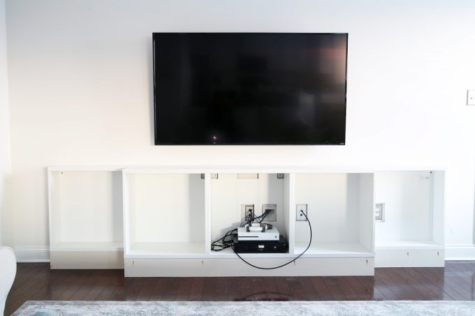 Fashionable Ikea Built In Tv Cabinets With How To Design, Install, And Add Trim To An Ikea Besta Built In (View 13 of 25)