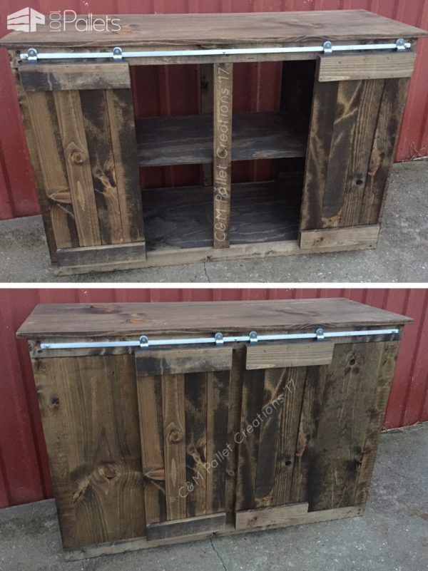 Fashionable Marvin Rustic Natural 60 Inch Tv Stands In Sliding Barn Door Style Pallet Tv Stand Saves Money (Image 8 of 25)