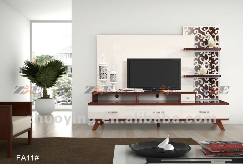 Fashionable Modern Design Tv Cabinets Intended For Modern Living Room Tv Cabinet Design Fa11 – Buy Modern Tv Cabinet,tv Unit Design Furniture,mixing Black And White Furniture Product On Alibaba (View 4 of 25)
