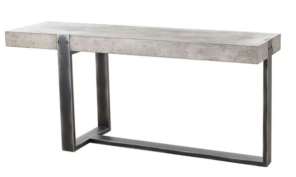 Fashionable Parsons Black Marble Top & Dark Steel Base 48X16 Console Tables Within Concrete Top Console Table Monumental Parsons Dark Steel Base 48X (Image 12 of 25)