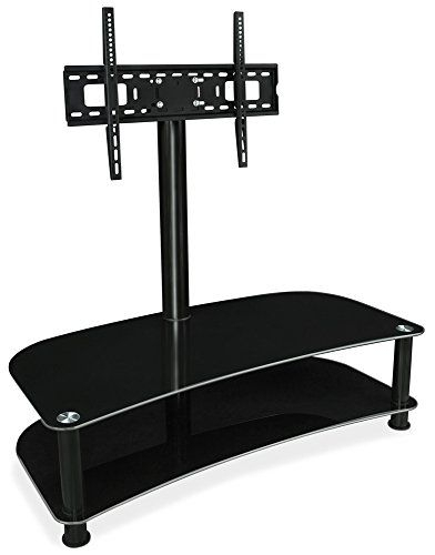 Fashionable Techlink Echo Ec130Tvb Tv Stand With Mountit Glass Shelf Tv Stand With Mount Tv Mount Entertainment (Image 6 of 25)