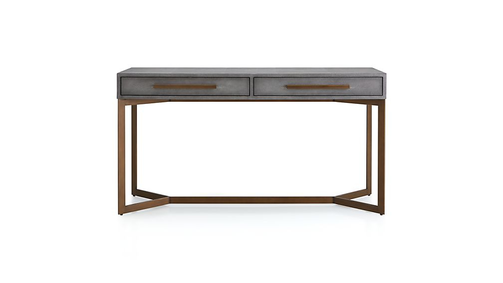 Faux Shagreen Console Table + Reviews (Image 6 of 25)