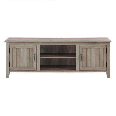 Favorite Abbott Driftwood 60 Inch Tv Stands Pertaining To Gray – Tv Stands – Living Room Furniture – The Home Depot (Image 7 of 25)