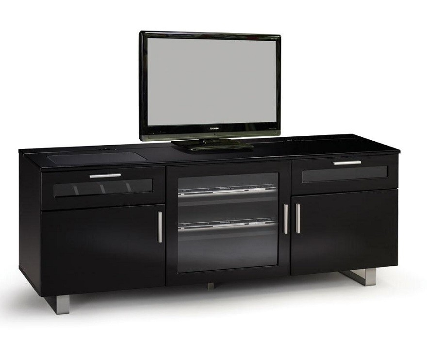 Favorite Black Gloss Tv Stands Intended For Connect High Gloss Black Modern Tv Stands (Image 10 of 25)