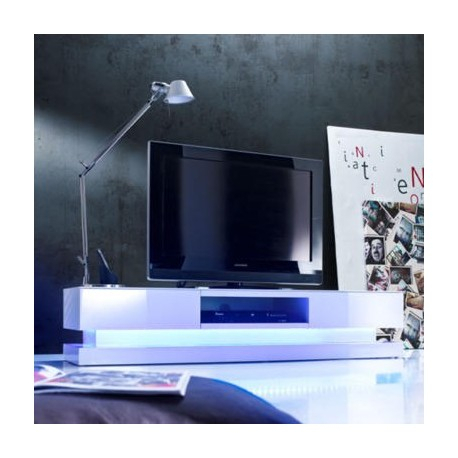 Favorite Black Gloss Tv Stands Intended For Sven – High Gloss Tv Unit With Led Lights – Tv Stands (558) – Sena (Image 11 of 25)