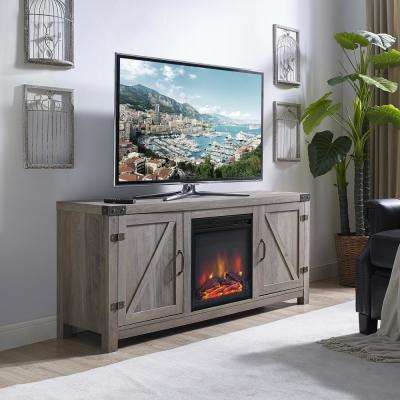 Favorite Kenzie 72 Inch Open Display Tv Stands With Regard To Gray – Electric Fireplaces – Fireplaces – The Home Depot (Image 4 of 25)